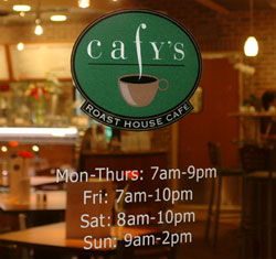 Cafy's hours