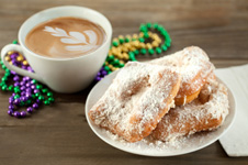 Coffee and beignet